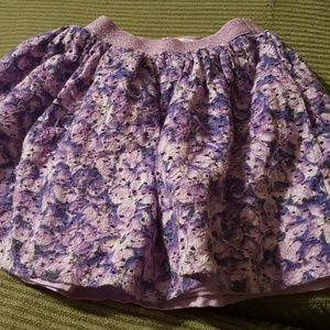 Children's Place purple flower skirt